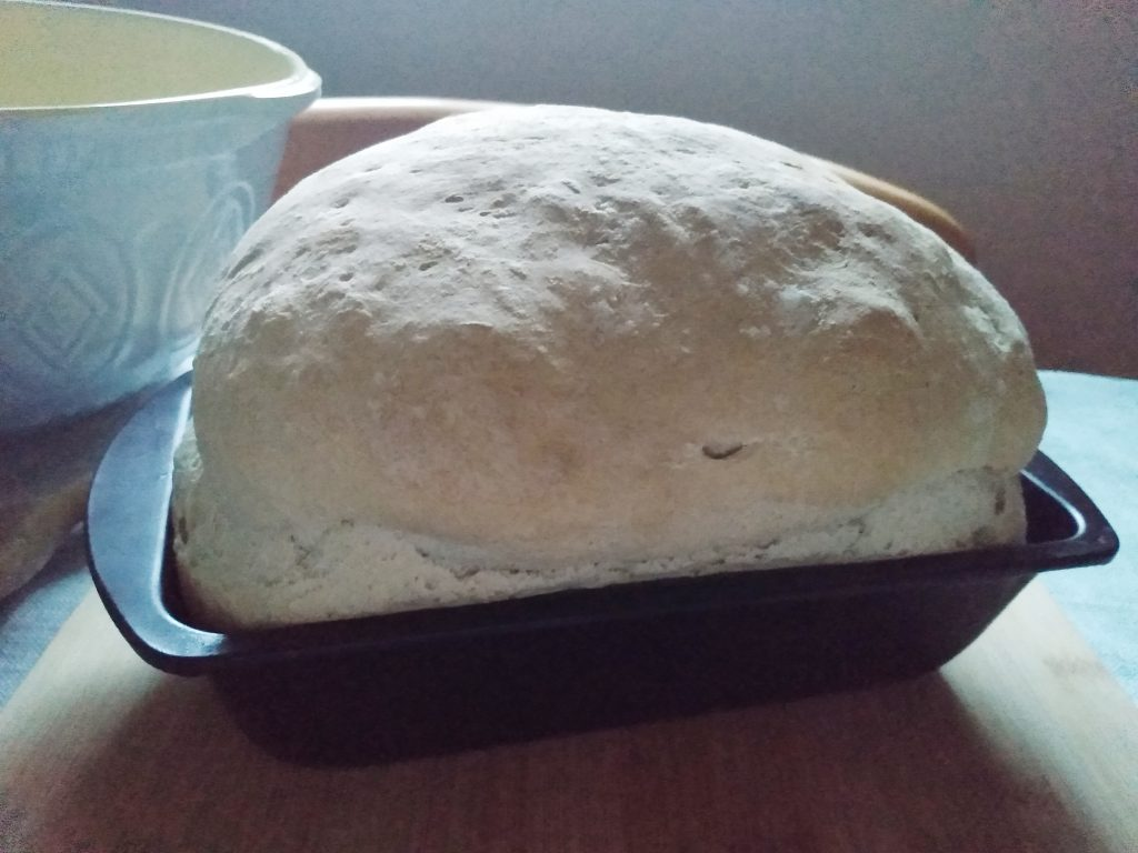 Bread after baking. A Simple White Loaf Recipe For Beginners by a Hopeful Home.