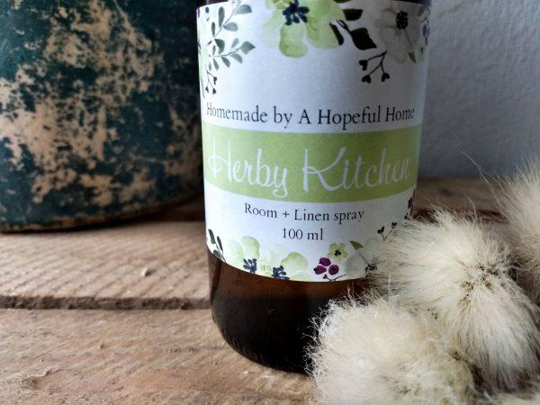 close up herby kitchen spray