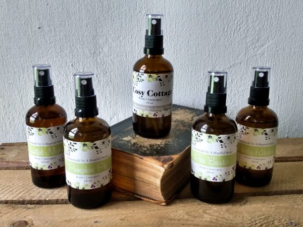 All Room and Linen sprays by a Hopeful Home webshop for rustic vintage homeware.