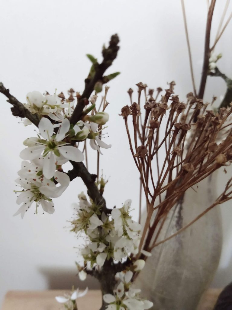 Close up Floral branch Easter tree. How to Create a Simple DIY Easter Tree by a Hopeful Home.