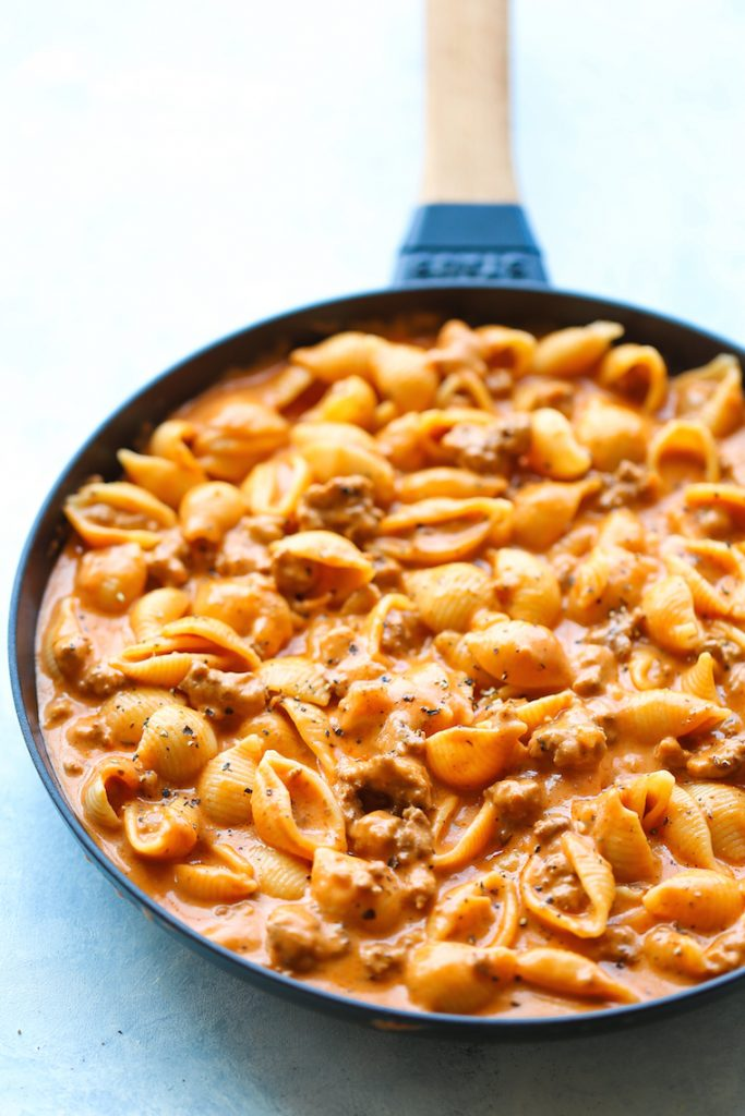 five easy meals with minced beef creamy beef and shells