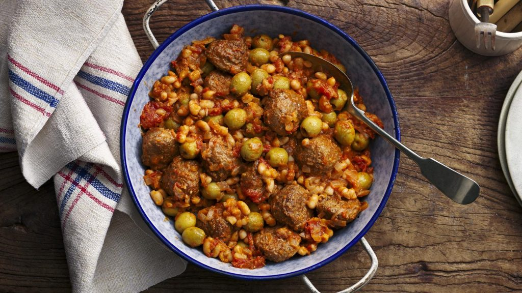 five easy meals with minced beef rick stein meatballs spicy tomatosauce