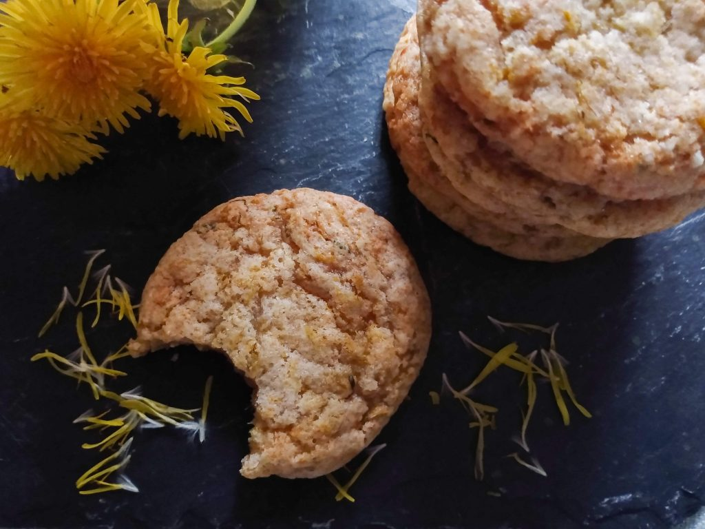 Featured image of cookies. How to Make Dandelion Cookies by a Hopeful Home.