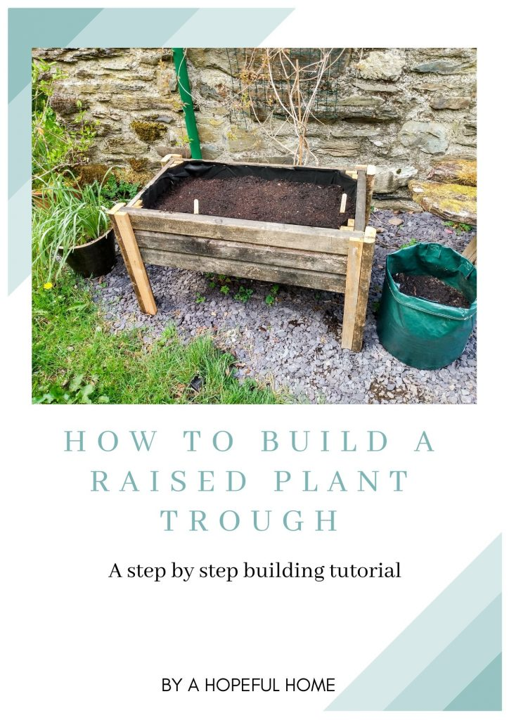 Building plan. DIY Reclaimed Wood Elevated Planter by a Hopeful Home.
