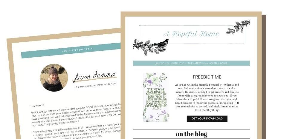 new header newsletter