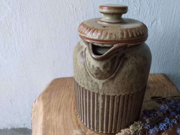Front view ceramic tea pot. Ceramic Teapot / Vintage Tableware by a Hopeful Home webshop for rustic vintage homeware.