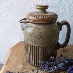 Side view teapot. Ceramic Teapot / Vintage Tableware by a Hopeful Home webshop for rustic vintage homeware.