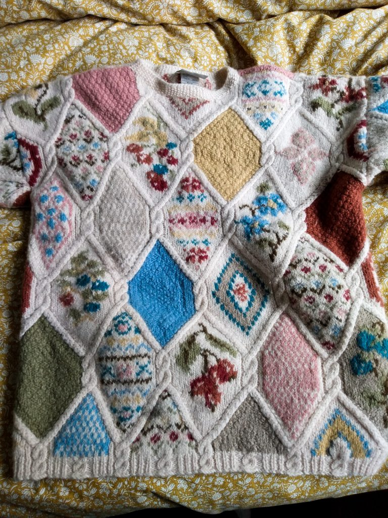 Vintage cosy jumper. Autumn Has Arrived (and I Love It!) by a Hopeful Home.