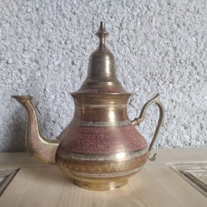Front picture. Middle Eastern Teapot / Tea Lover Gift by a Hopeful Home webshop for rustic vintage homeware.