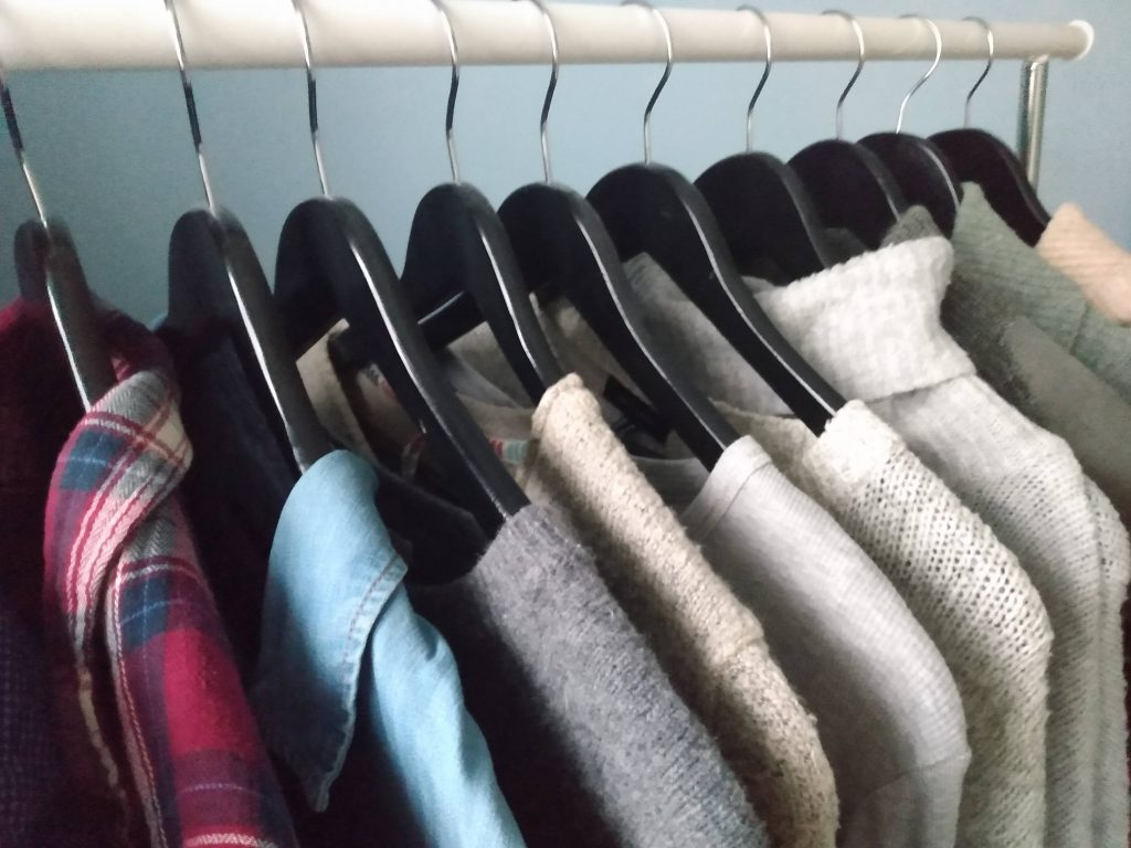 Clothing rack. 4 Tips for Buying Second-Hand Clothing by a Hopeful Home.