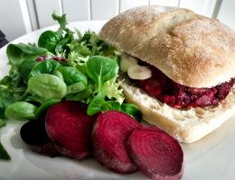 Featured image beetroot burger. Easy Beetroot Burger recipe by a Hopeful Home.