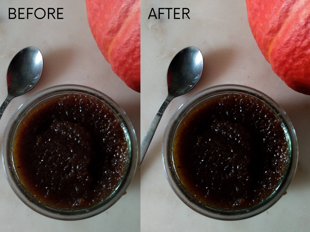 Before and after editing example. Improve your Mobile Phone Photography Skills by a Hopeful Home.