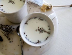 Featured image chamomile lavender latte. Bedtime chamomile lavender latte by a Hopeful Home.