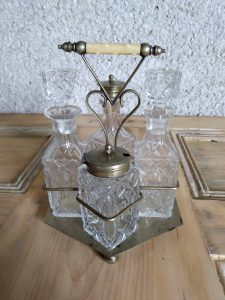 Silver plated condiment cruet set February Vintage Homeware Restock by a Hopeful Home.