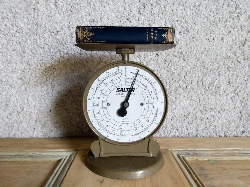 Vintage Salter Parcel Scale march 2021 vintage homeware restock.