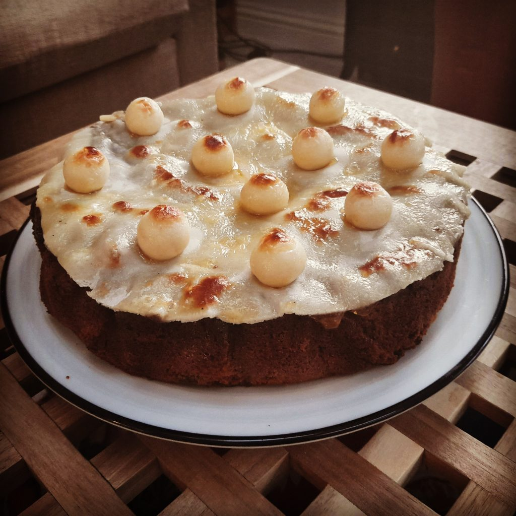 Finished Easter Simnel Cake. Guest Blog Post by Esther Linkens at a Hopeful Home.