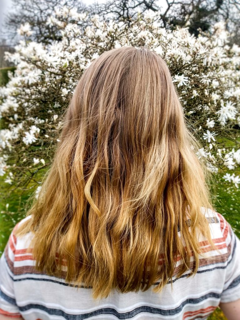 Picture of healthy hair. 5 natural hair care tips by a Hopeful Home.