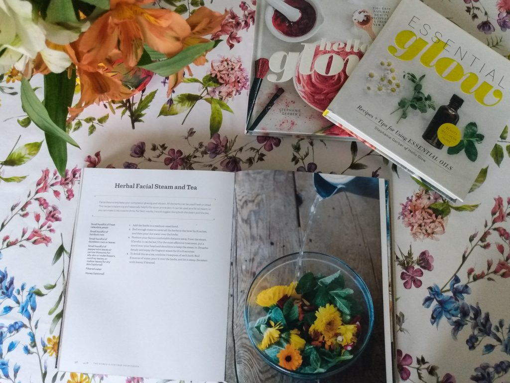 Three natural self care books. My 3 favourite sources for natural self care inspiration by A Hopeful Home.
