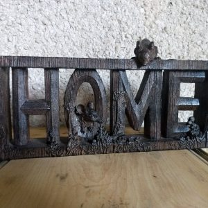 Wooden home letters.