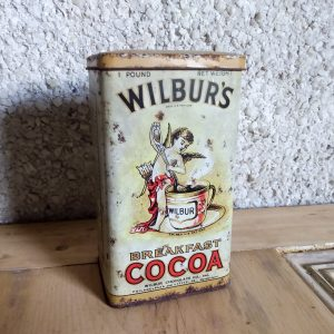 Vintage breakfast cocoa tin.
