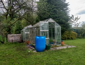 Our greenhouses. The green(ie) fingers diaries by A Hopeful Home. One step at a time.